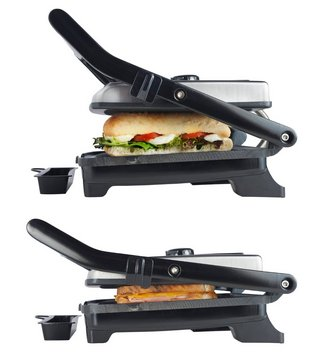 Fat-Free Sandwich Panini Grill In Black Finish