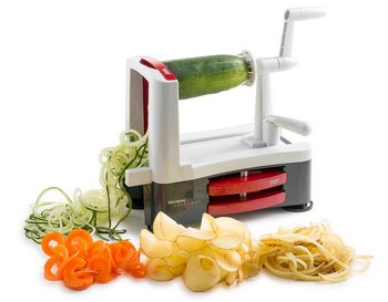 Slicer And Veg Spiralizer With Carrots