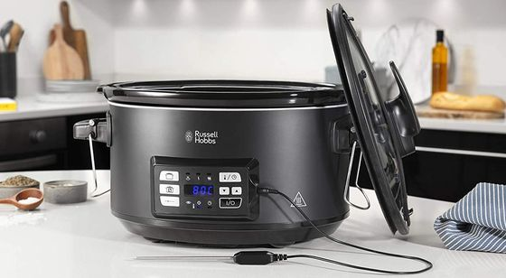 Slow Cooker With Black Enamel