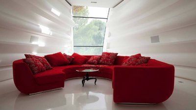 The Red Circular Sofa