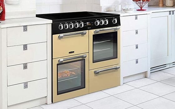 Electric Range Cooker In Cream Colour