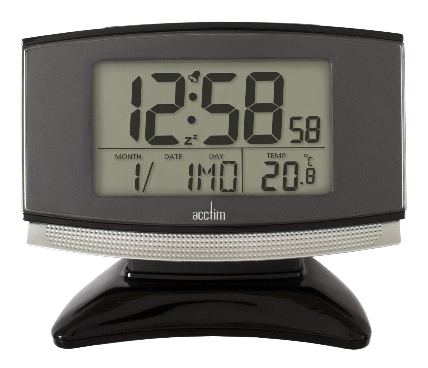 Snooze Alarm Clock With Black Base