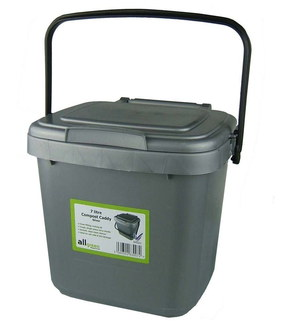 All-Green 7 Litres Kitchen Caddy Bin With Black Handle