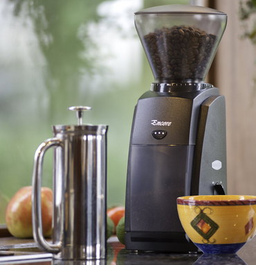 Conical Burr Grinder In Black Exterior