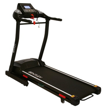 Motorised Folding Treadmill In Black And Red