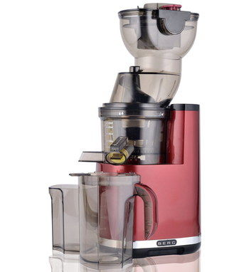Slow Fruit And Vegetable Juicer In Dark Red