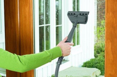 Compact Home Handheld Steam Cleaner With Black Hose