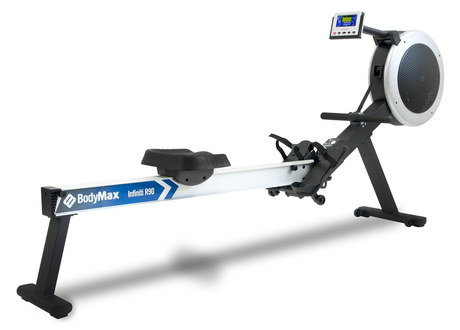 Home Fold Up Rowing Machine With Blue Frame