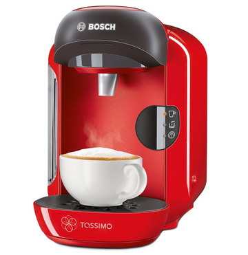 Coffee Machine In Black And Red
