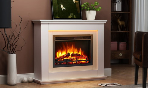 Electric Wood Burner Effect Fires With Log Realistic Flame