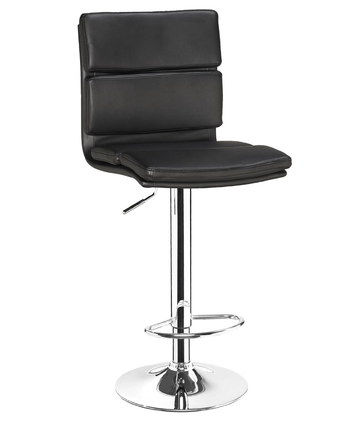 Trendy Leather Bar Stool With Back And Metal Foot-Rest