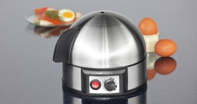 Electric Egg Boiler In Polished Steel And Black