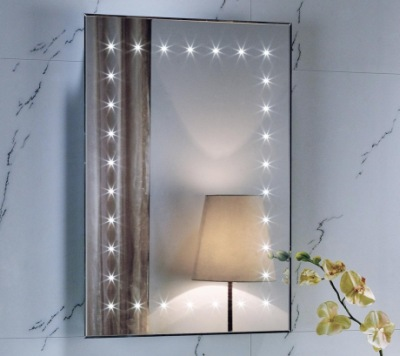 Dakota Bathroom Mirror With Lights And Demister With Lamp