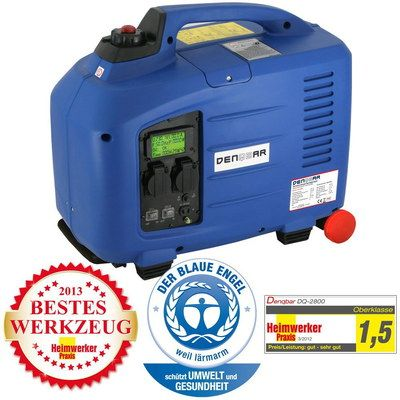 2.8 kW Silent Running Generator In Blue With Logo