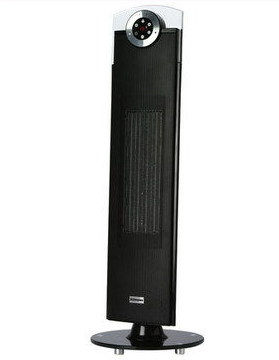 Oscillation Studio LED Fan Heater On Black Stand