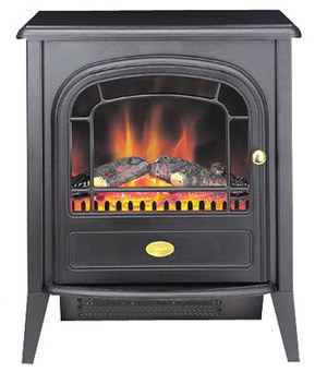 Club Electric Log Burner Effect Fire In Black Finish