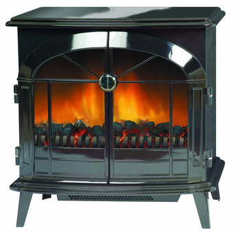 Electric Log Effect Fire With Polished Front