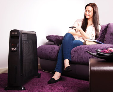 Duronic 2.5KW Mica Convector Heater In All Black Finish