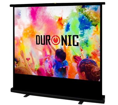 Floor Standing Pull Up Projector Screen In Black