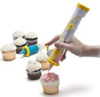 Efrank Icing Pen Cupcake Decorating Kit In White And Yellow