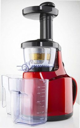 Slow Fruit And Veg Juicer In Black And Red Housing