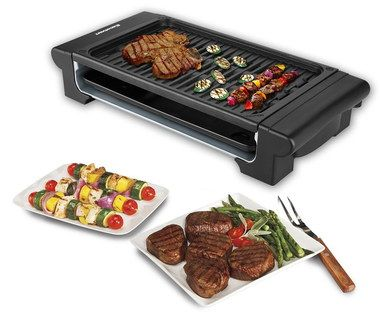 Large Countertop Grill For Indoors With Steak On Top