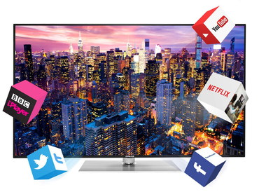 Finlux Smart Wireless LED TV Showing City SkyLine