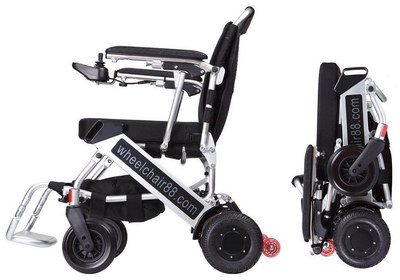 FoldaWheel PW-999UL Folding Wheelchair With Black Wheels