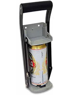 FreeLogix Wall Mounted Drinks Can Crusher In Grey And Black
