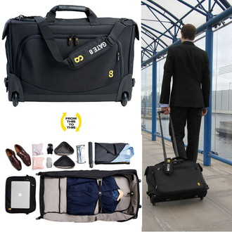 Hand Luggage Size Suitcase Bag And Contents