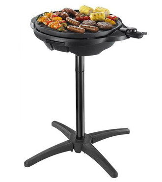 15 Portion Portable Electric Grill On Tall Black Stand