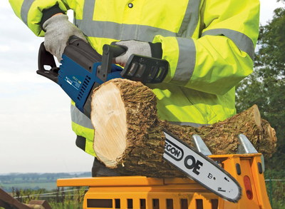 Best Small Chainsaw Used By Man Cutting Timber