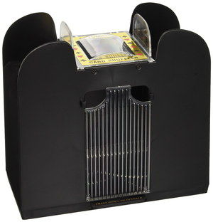 Automated Fast Pro Card Shuffler With Black Exterior