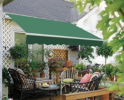Retractable Patio Awning In Sloped Position
