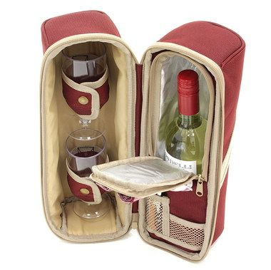 Fashionable Luxury Dual Wine Cooler Bag In Cream And Brown
