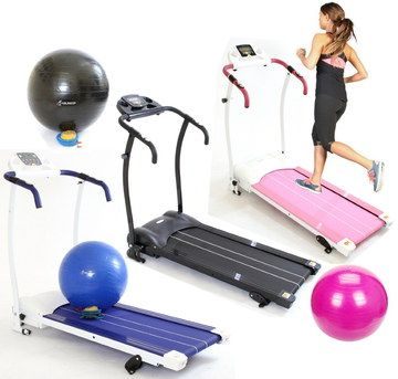 Motorised Electric Treadmills In Black, Blue And White