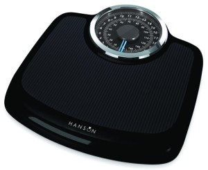 Hanson Neo Mechanical Bathroom Scales In Smooth Black Finish