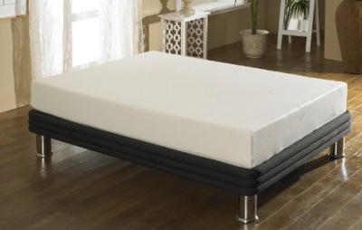 King Size Memory Foam Mattress On Black Bed