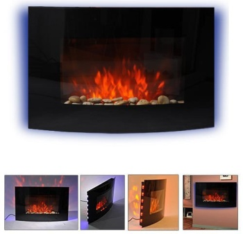 On The Wall Electric Fire Place In 4 Views