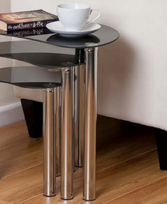 Home Discount Cara Nest Of 3 Tables On Wood Floor