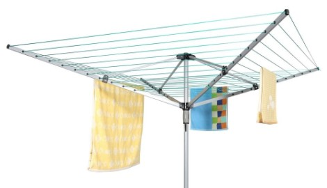 Large Rotary 4 Arm Washing Line With Blue Towels