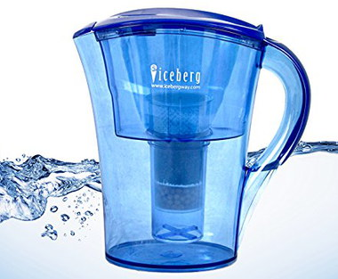 Alkaline Water Jug 2.4L In Blue Plastic
