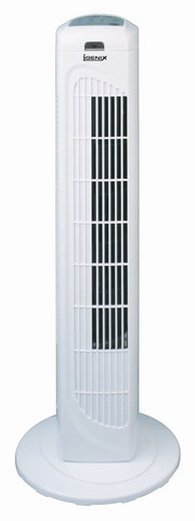 Cooling Tower Fan With Remote In White Exterior