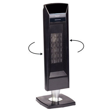 Remote Control Tower Heater Fan On Pedestal