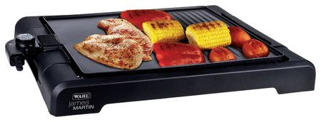Drip Ledge Electric Grill Pan With Black Ridge Surface