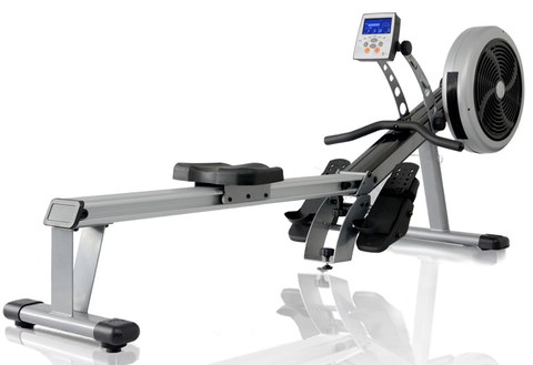 Folding Rowing Machine For Home With Blue Screen