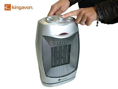 1500 Watts Oscillating Small Space Heater Fan In Chrome Effect