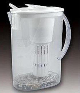 Healthy Alkaline Drinking Water Jug In White