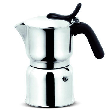 Italian Stovetop Coffee Maker With Polished Exterior