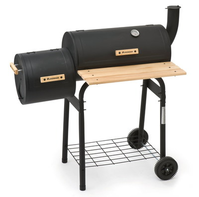Charcoal Tennessee Smoker In All Black Exterior